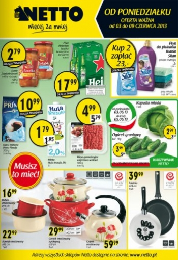 Netto od 3.06 do 9.06