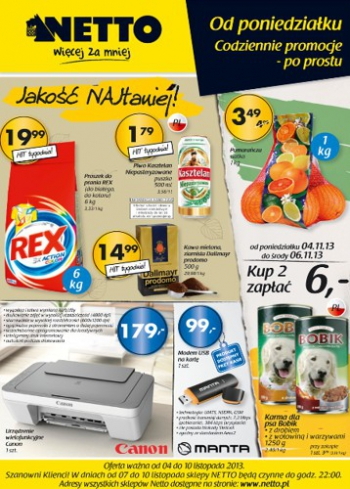 Netto od 4.11 do 10.11