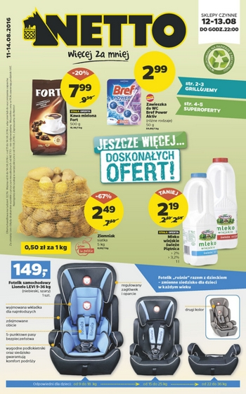Netto od 11.08 do 14.08