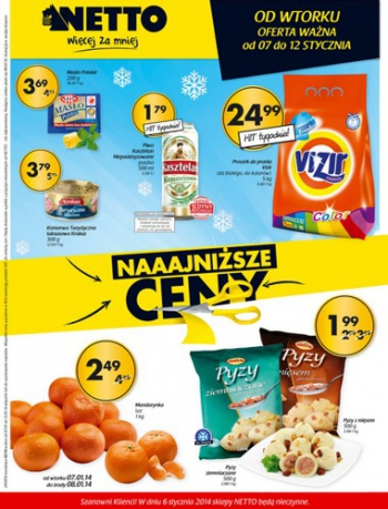 Netto od 7.01 do 12.01