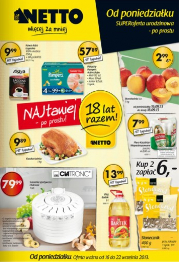 Netto od 16.09 do 22.09