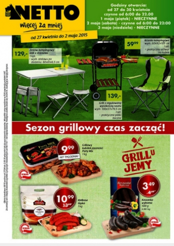 Netto od 27.04 do 2.05