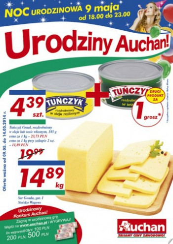 Auchan od 9.05 do 14.05