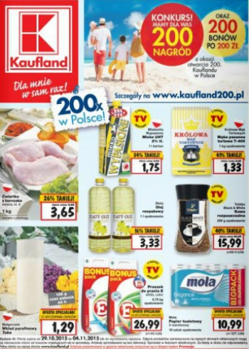 Kaufland od 29.10 do 4.11