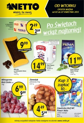 Netto od 2.04 do 7.04