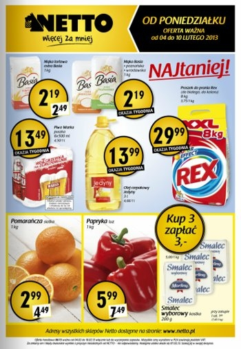Netto od 4.02 do 10.02
