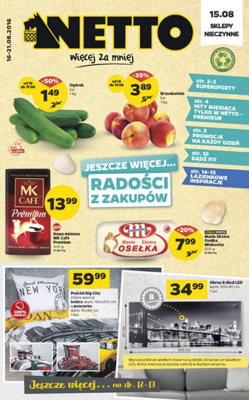 Netto od 16.08 do 21.08