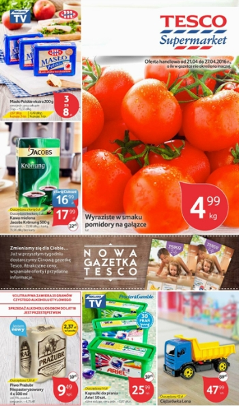 Tesco od 21.04 do 27.04