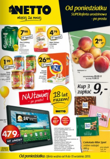 Netto od 9.09 do 15.09
