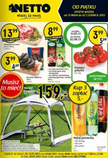 Netto od 31.05 do 2.06