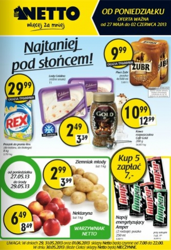 Netto od 27.05 do 2.06