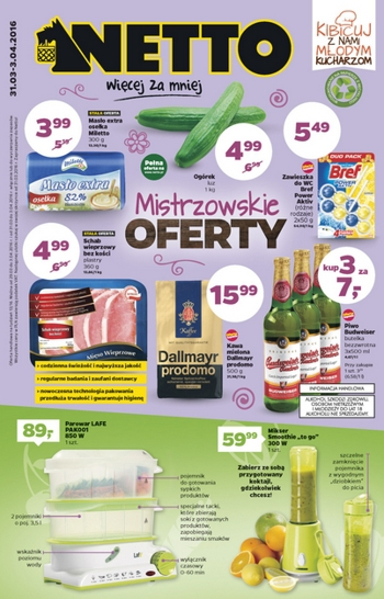 Netto od 31.03 do 3.04