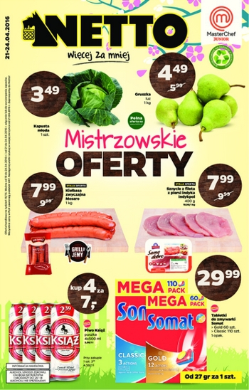 Netto od 21.04 do 24.04