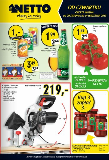 Netto od 29.08 do 1.09
