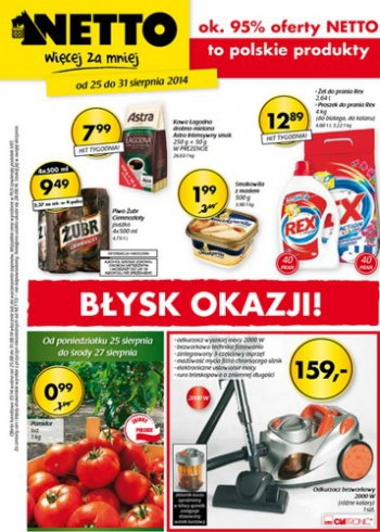 Netto od 25.08 do 31.08