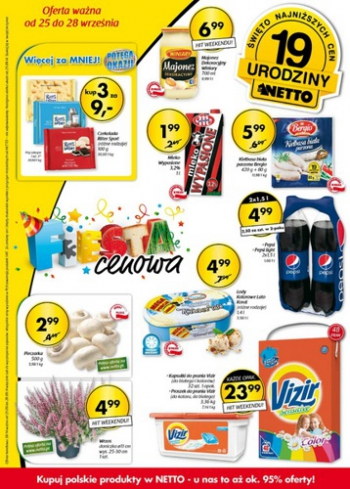 Netto od 25.09 do 28.09