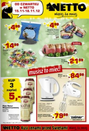 Netto od 15.11 do 18.11