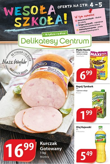 Delikatesy Centrum od 28.08 do 3.09