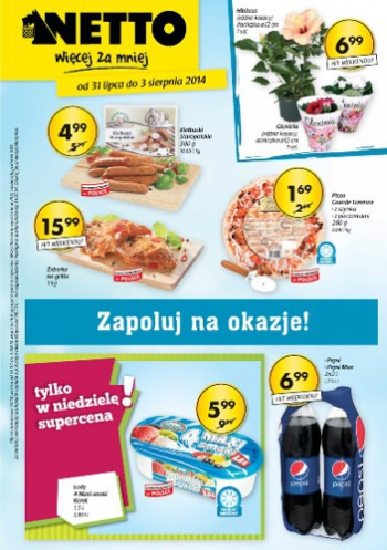 Netto od 31.07 do 3.08