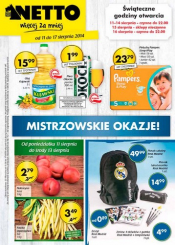 Netto od 11.08 do 17.08