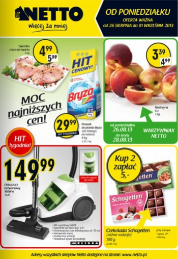 Netto od 26.08 do 1.09