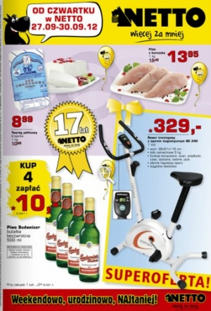 Netto od 27.09 do 30.09
