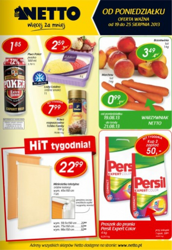 Netto od 19.08 do 25.08