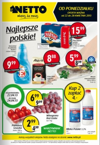 Netto od 22.04 do 28.04