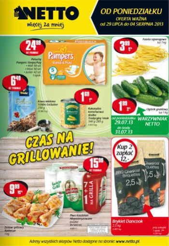 Netto od 29.07 do 4.08