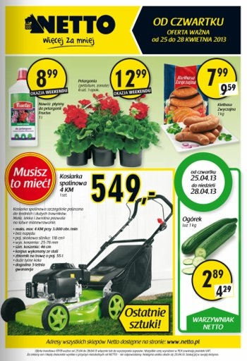 Netto od 25.04 do 28.04