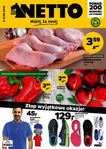 Netto od 3.08 do 9.08