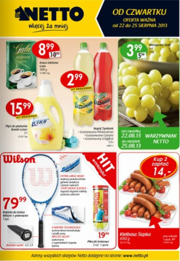 Netto od 22.08 do 25.08