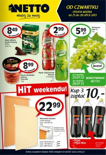 Netto od 25.07 do 28.07