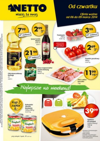 Netto od 6.03 do 9.03