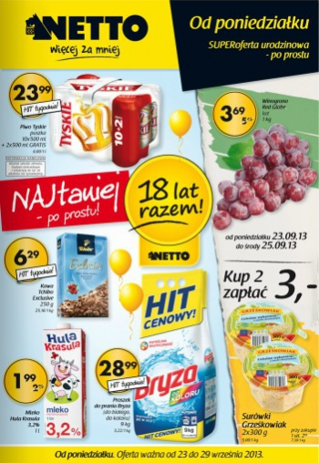 Netto od 23.09 do 29.09