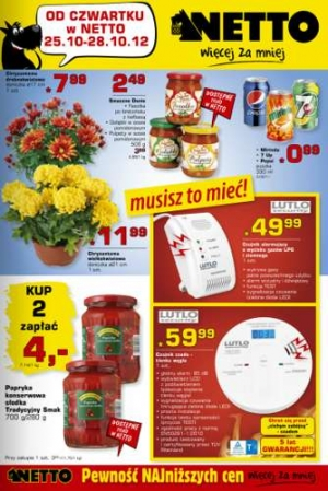 Netto od 25.10 do 28.10