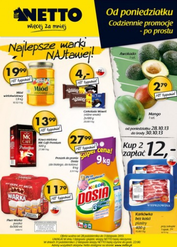 Netto od 28.10 do 3.11