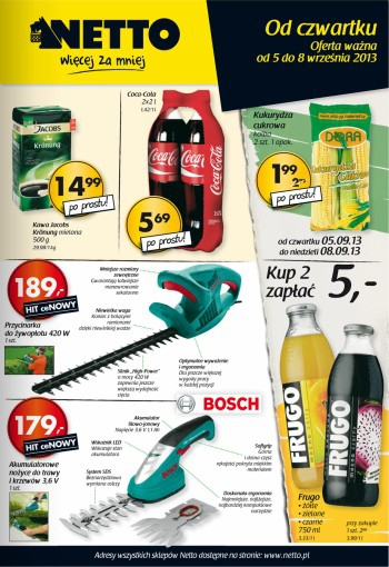 Netto od 5.09 do 8.09