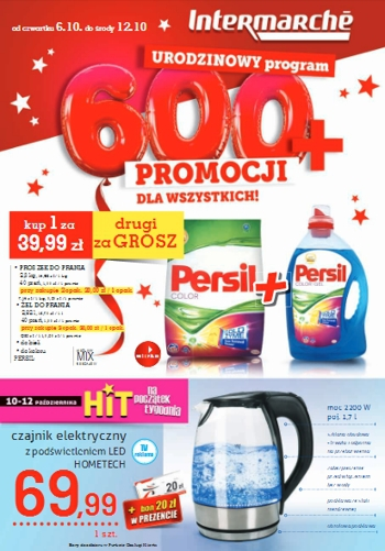 Intermarche od 6.10 do 12.10