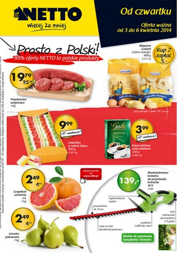Netto od 3.04 do 6.04