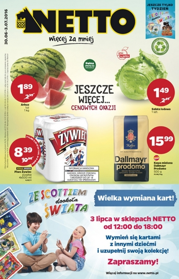 Netto od 30.06 do 3.07