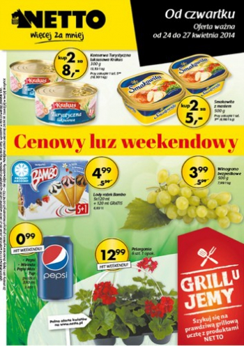 Netto od 24.04 do 27.04