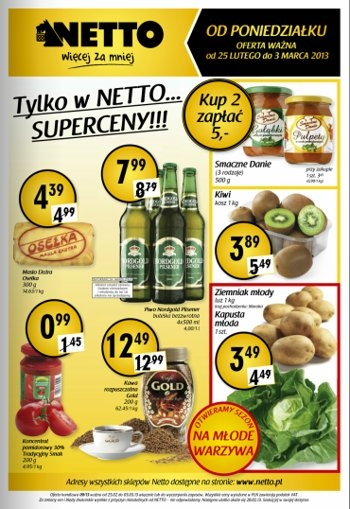 Netto od 25.02 do 3.03