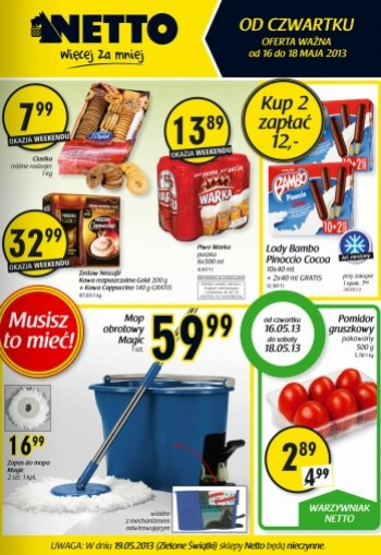 Netto od 16.05 do 18.05