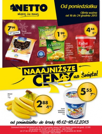 Netto od 16.12 do 24.12