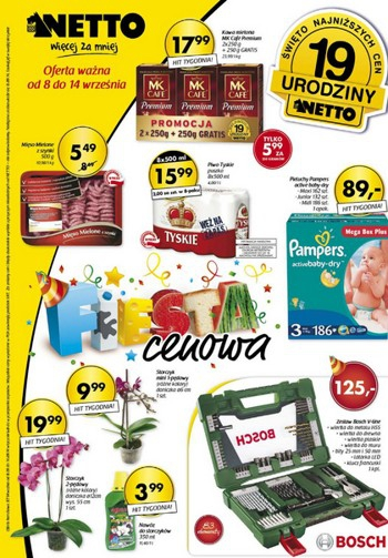 Netto od 8.09 do 14.09