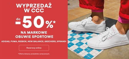 Deichmann: 50% rabatu na sneakersy Skechers
