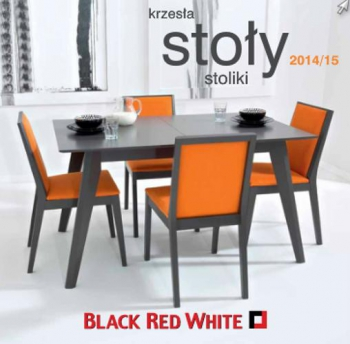 Black Red White Krzesła Stoły Stoliki 20142015