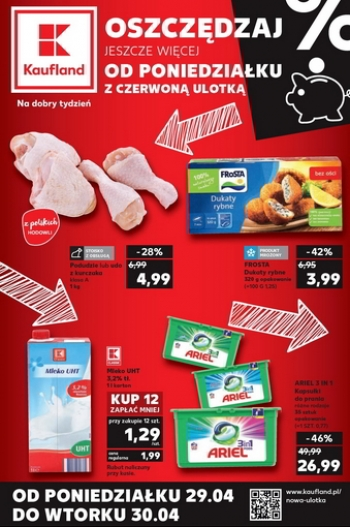 Kaufland od 29.04 do 30.04