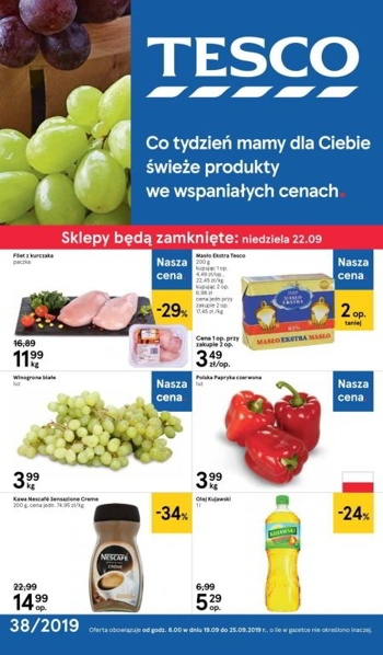 Tesco od 19.09 do 25.09